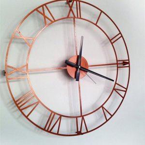 Bakır Metal Duvar Saati