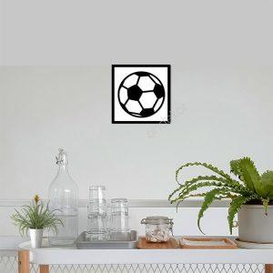 Futbol Topu Ahşap Duvar Tablosu