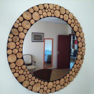 Ağaç dilimli Doğal Ahşap Ayna