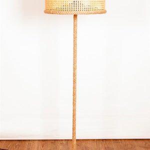 Bambu Hasır Halatlı Lambader