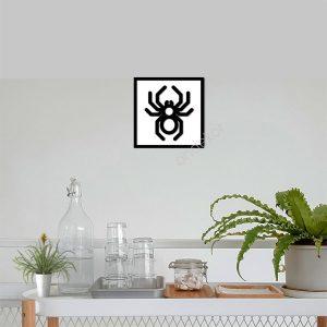 Örümcek Ahşap Duvar Tablosu