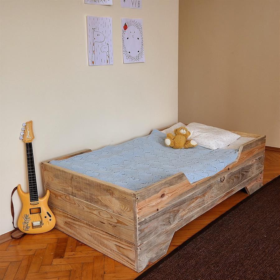 Masif Ahşap Montessori Çocuk Yatağı