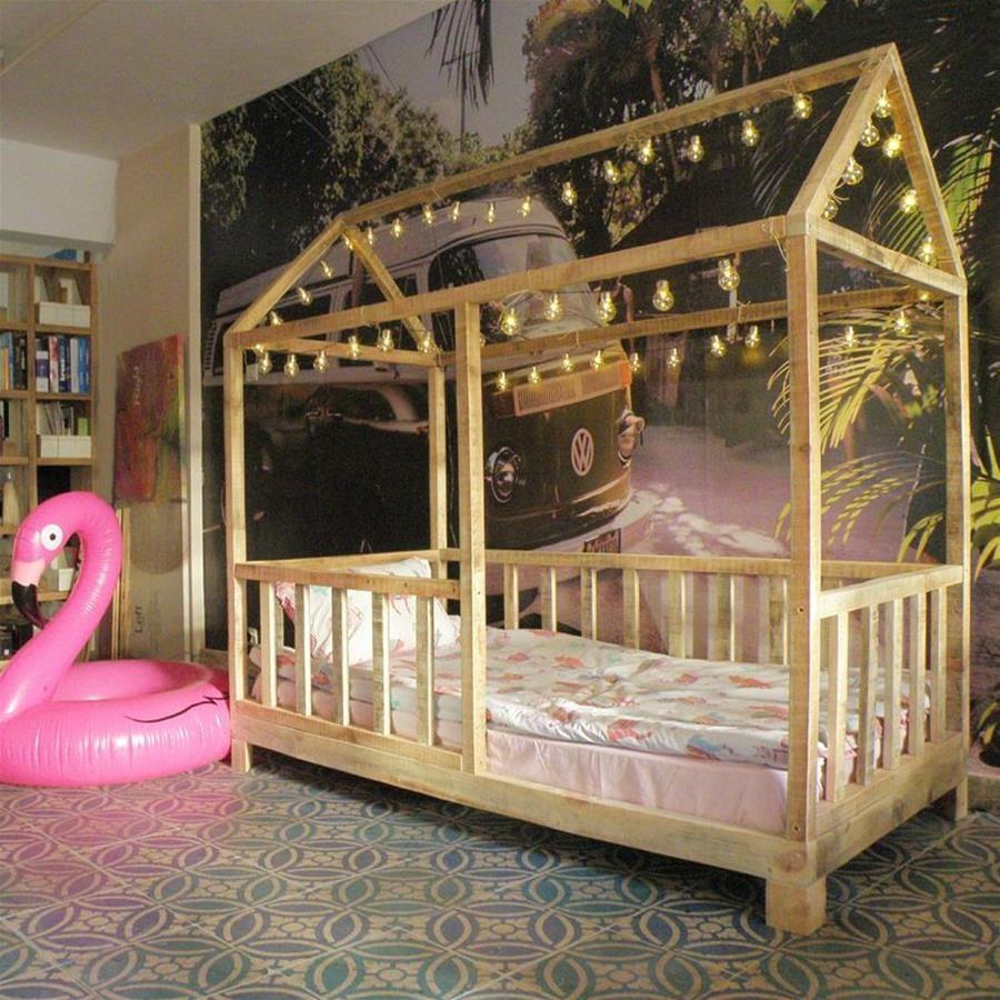 Masif Ahşap Gravier Montessori Çocuk Yatağı