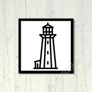 Deniz feneri Ahşap Duvar Tablosu