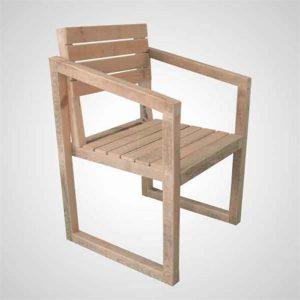 Masif Ahşap Sandalye Muguet