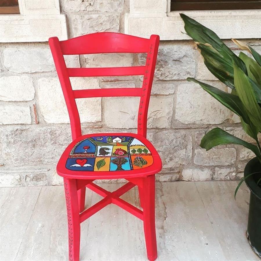 Ahşap Boyama Sandalye Sandalye