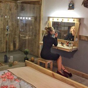 Masif Ahşap Fontaine Makyaj Masası