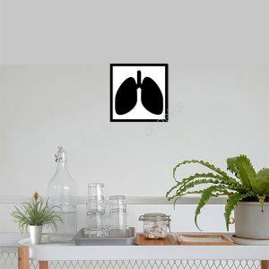Akciğer Ahşap Duvar Tablosu