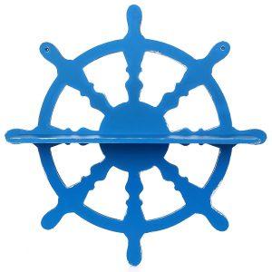 Bodrum Mavi Dümen Dekoratif Raf
