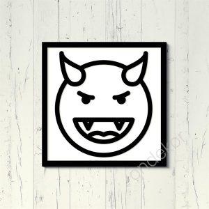 Gözlerde Dolar Emojisi Ahşap Duvar Tablosu