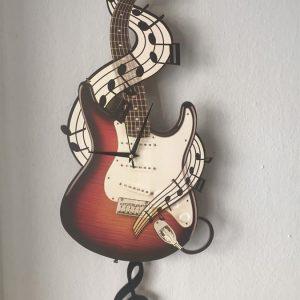 Dekoratif Gitar Duvar Saati