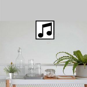 Müzik ve Notalar Ahşap Duvar Tablosu