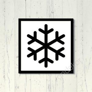 Kar Tanesi Ahşap Duvar Tablosu