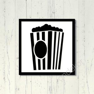Popcorn Ahşap Duvar Tablosu