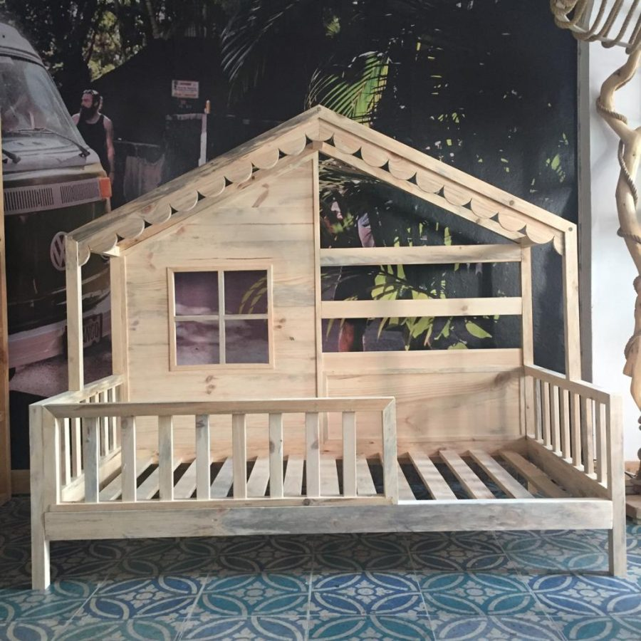 Maison Masif Ahşap Montessori Çocuk Yatağı