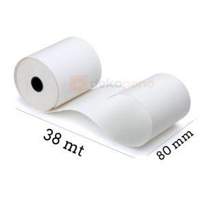 80x40 Termal Rulo Tam Metraj Adisyon Rulosu 1 Adet