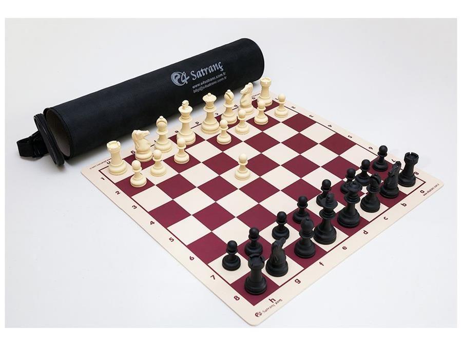 Çocuklar İçin Eğitici Staunton 85mm Satranç Takımı