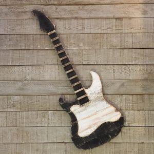 Masif Ahşap Dekoratif Gitar