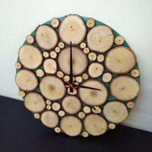 Doğal Ağaç Dilimli Duvar Saati