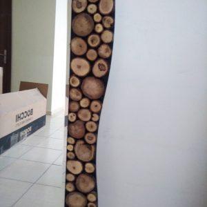 Ağaç dilimli, doğal ayna