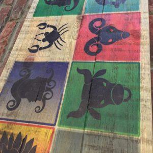 Horoscopes Masif Ahşap Tablo