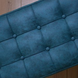 bi'puff Royce Metal Ayaklı Puf Mavi