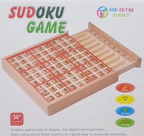 Çocuklar İçin Ahşap Sudoku