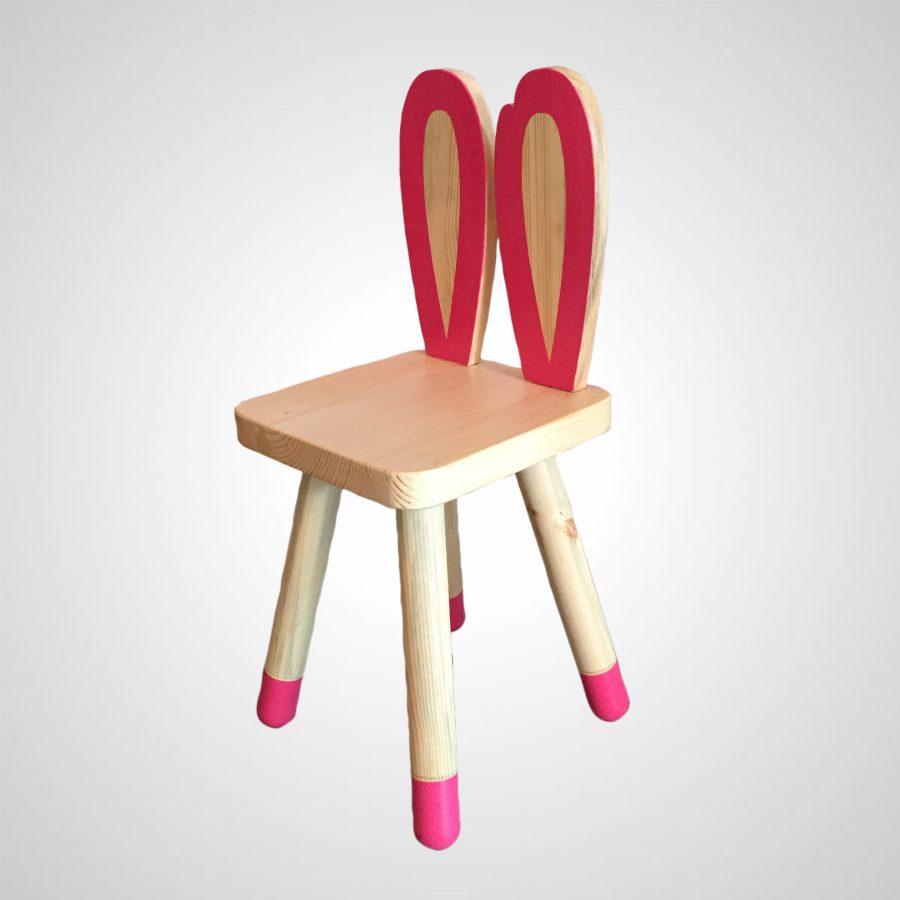 Masif Ahşap Chapelet Çocuk Sandalyesi