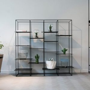 Metal Kitaplık Tasarım Vitrin 180cm